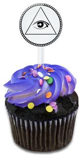 Eye Of Providence Cupcake Toppers Picks Set
