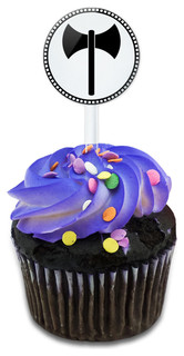 Labrys Symbol Cupcake Toppers Picks Set