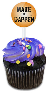 Make It Happen It's Your Destiny Cupcake Toppers Picks Set