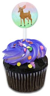 Oh Deer Me Cupcake Toppers Picks Set