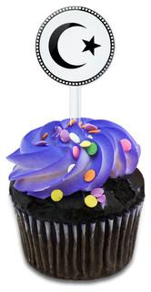 Star Crescent Cupcake Toppers Picks Set