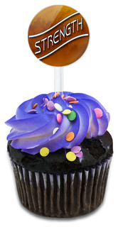 Strength Amber Clouds Cupcake Toppers Picks Set
