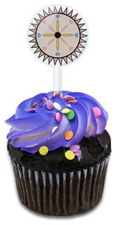 Sunburst With Hearts Cupcake Toppers Picks Set