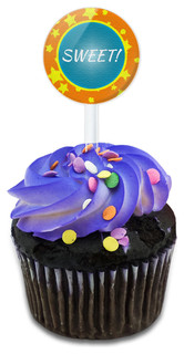Sweet! As Can Be Cupcake Toppers Picks Set
