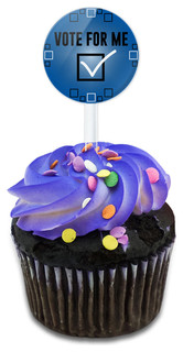 Vote For Me Cupcake Toppers Picks Set