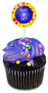 Way 2 Go! Good Job Cupcake Toppers Picks Set