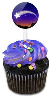 Wishing On A Shooting Star Cupcake Toppers Picks Set