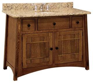 Mccoy Bathroom Vanity Quarter Sawn White Oak Graphite Wood Door