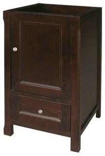 "George Juliet Solid Wood Vanity Cabinet Base Vintage Walnut 18"""