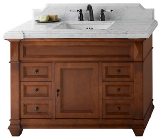 "Ronbow Torino Solid Wood 48"" Vanity Set With Ceramic Sink"