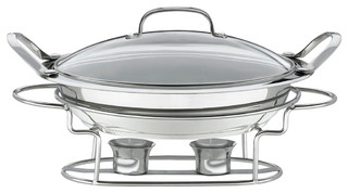 "Stainless Steel 11"" Round Buffet Server"