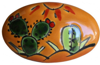 Oval Desert Talavera Ceramic Drawer Knob