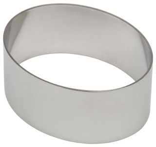 """Ateco Stainless Steel Oval Shaped Form 4"""""""