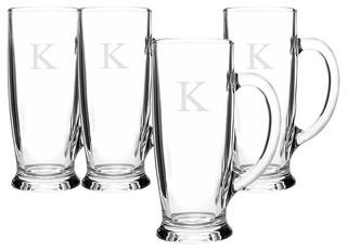 Personalized 18 oz. Craft Beer Mugs(Set of 4) K