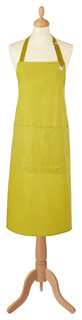 Plain Dyed Lime Cotton Apron