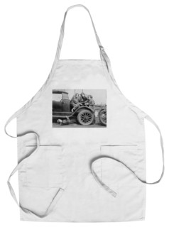 Chef's Apron High School Girls Learn Auto Mechanics Photograph