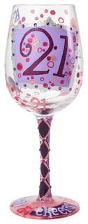 """""""21"""" Wine Glass"""