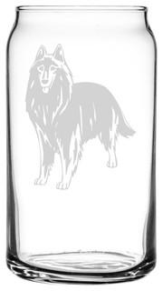 Belgian Shepherd Dog Groenendael Dog All Purpose 16oz. Libbey Can Glass