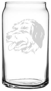 Bosnian Coarse Haired Hound Barak Dog All Purpose 16oz. Libbey Can Glass