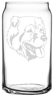 Georgian Shepherd Dog Themed Etched All Purpose 16oz. Libbey Can Glass