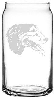 Huntaway Dog Themed Etched All Purpose 16oz. Libbey Can Glass
