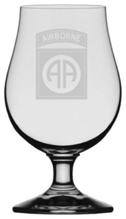US Army 82nd Airborne Division Glencairn Crystal Iona Beer Glass
