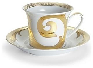 Versace Arabesque Gold 8 1/3oz Cappuccino Cup