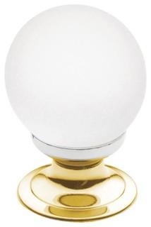 4321030 Crystal Knob Bright Brass