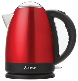 Aroma AWK-125R 7-Cup Stainless Steel Electric Water Kettle Red