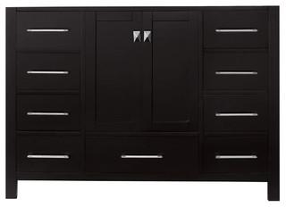 "Virtu Caroline Avenue 48"" Cabinet Only Espresso"