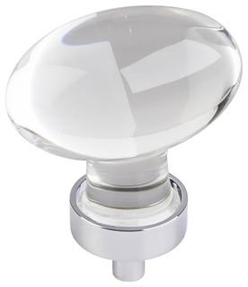 """Jeffrey Alexander Harlow Oval Knob Polished Chrome 1-5/8"""""""