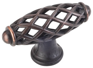 "Jeffrey Alexander Tuscany Birdcage Knob 2-1/3"" Brushed Oil Rubbed Bronze"