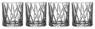 City Old Fashioned Glasses Set of 4