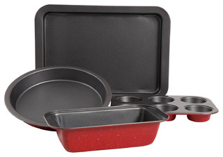 Sunbeam Redmond 5-Piece Non-Stick Bakeware Set in Red