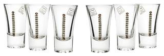 Le Monde Cadeaux Swarovski Jeweled Crystal Vodka Shot Glasses Set of 6