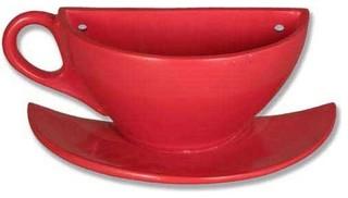 Coffee Cup On Saucer Half Display Display