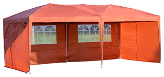 Outsunny 10'x20' Easy Pop Up Tent Rust Red