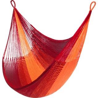 Yellow Leaf Hanging Chair Sedona Crimson Red/Blaze Orange