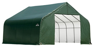 Shelter Logic Outdoor Sheltercoat Garage 28'x20'x16' Peak Standard Green