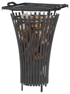 Cook King 111450 Flame Black Steel Garden Firebasket