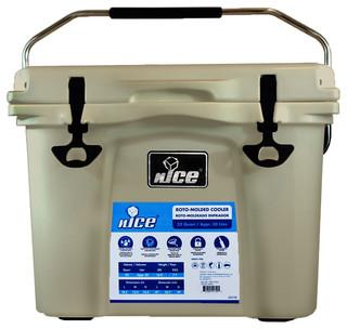 Nice 22 Quart Beige Cooler