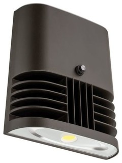 """OLW Single Light 7"""" Wide Integrated LED Wall Pack - 4000K - Photo Control"""