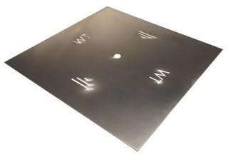 """Warming Trends ALPL30S Square 0.12"""" Aluminum Plate 30"""""""
