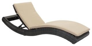 """Zuo Modern 703840 Pamelon Beach 28"""" Aluminum Frame Outdoor Chaise Lounge"""