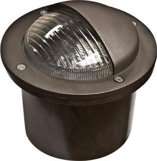 Fiberglass Adjustable In-Ground Well Light with Hood Bronze