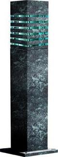 Powder Coated Steel Bollard Verde Green