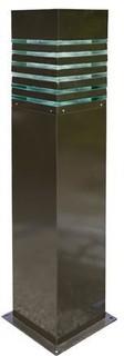 Powder Coated Steel Bollard Bronze