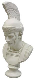 Roman Soldier With Helmet Busts Greek & Roman