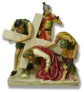 Jesus Falls The 1St Time Station # 3 Religious Jesus