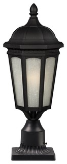 Z-Lite Wakefield Black Period Inspired Victorian Outdoor With 1 Light 100W